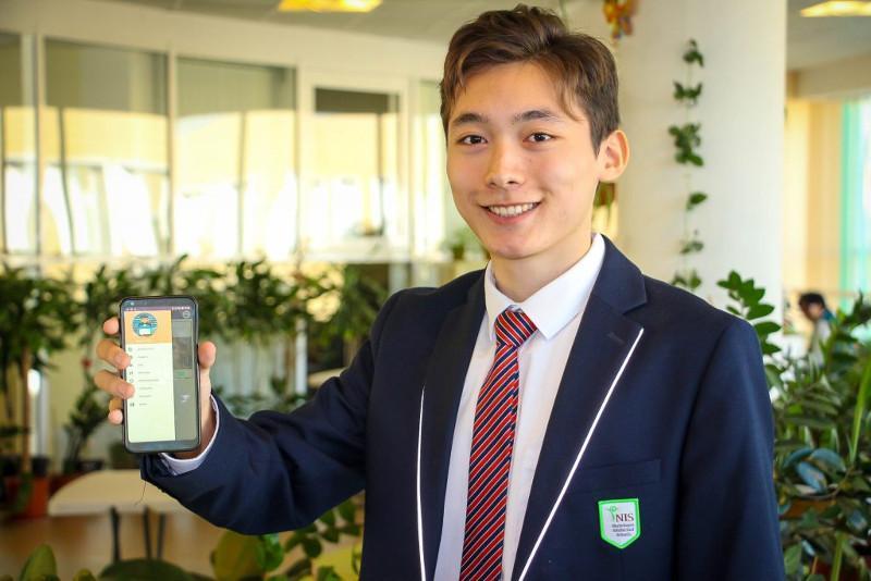 Атыраулық оқушы волонтерлерге арналған мобильдік қосымша жасап шығарды