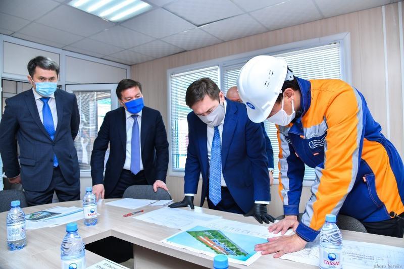 Госпиталь для инфицированных COVID-19 строят в Шымкенте