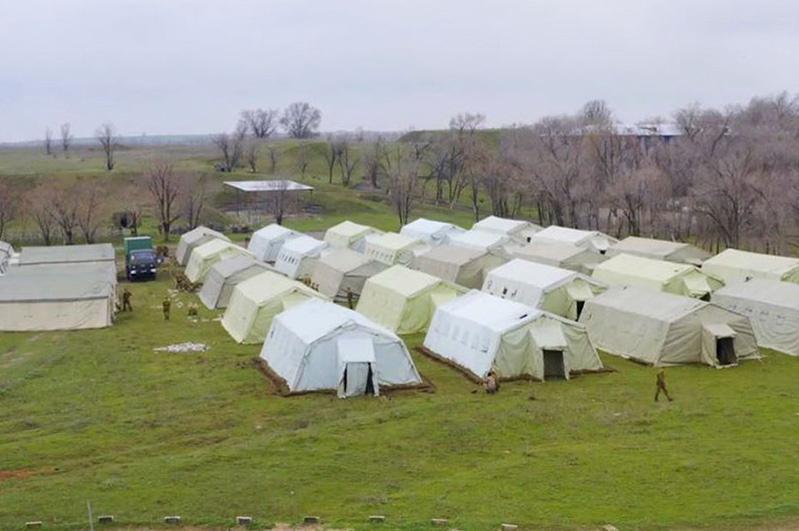 Военный госпиталь развернули в Алматинской области