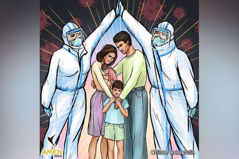 Иллюстрации о коронавирусе: объявлен челлендж для поддержки врачей, военных и полиции