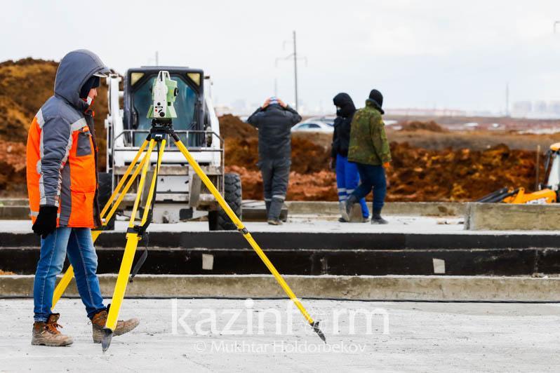 Строительство госпиталя для больных коронавирусом в Нур-Султане -  репортаж с места событий