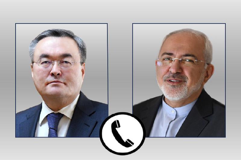Kazakh, Iran FMs hold telephone conversation