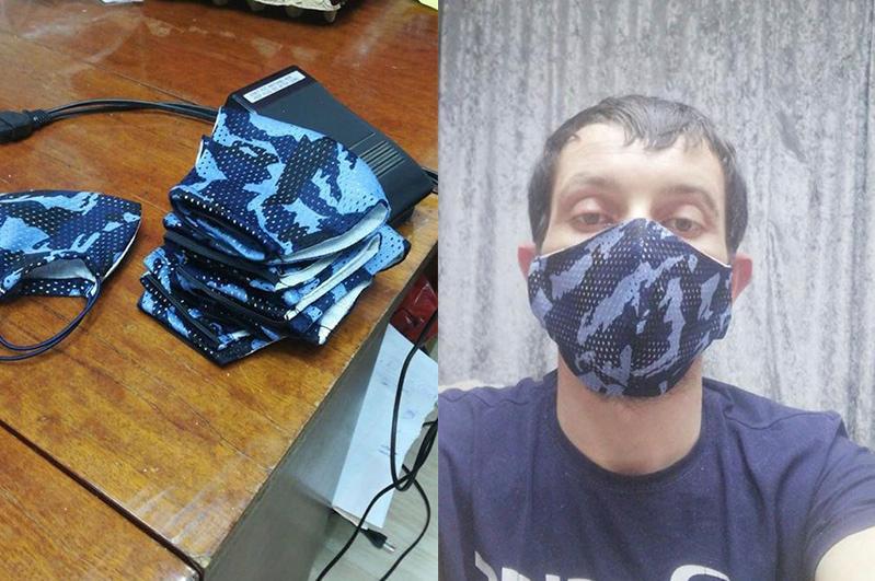 Экибастузец с ограниченными возможностями шьет маски у себя дома