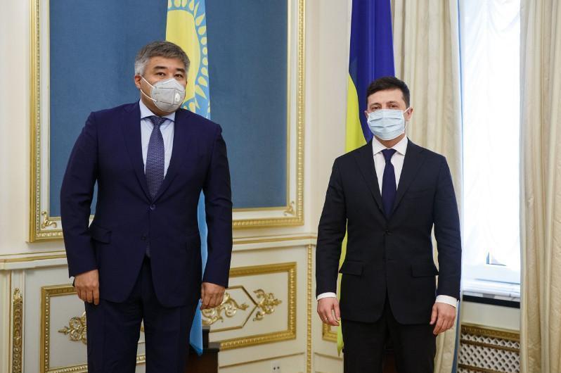 Украина Президенти Қозоғистонга миннатдорчилик билдирди