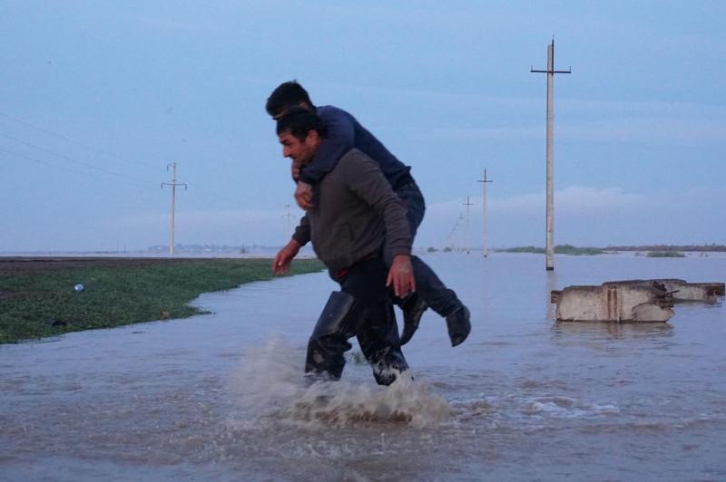 Түркістан облысында су тасқыны қаупі төнген 3 ауылдың халқы эвакуацияланып жатыр