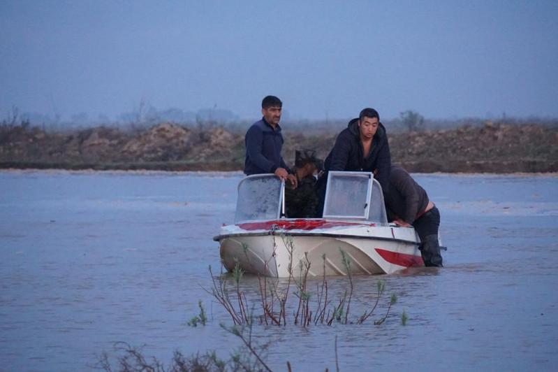 Из подтопленных населенных пунктов Мактааральского района эвакуировали 5400 человек