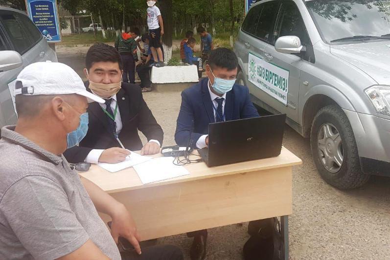 Мақтаарал: Эвакуациялық пунктерде мобильді ХҚО-лар жұмыс істеп жатыр