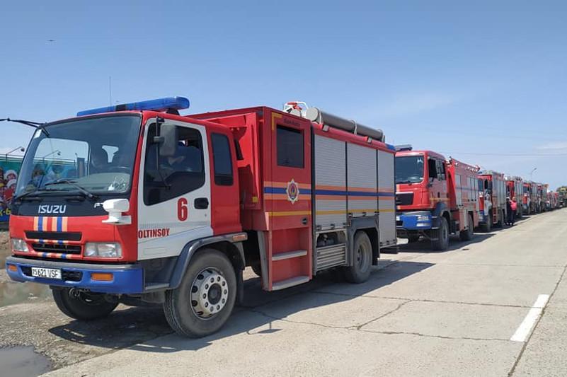 Мақтааралға көмекке 200 Өзбекстан азаматы мен арнайы техникалар келіп жетті