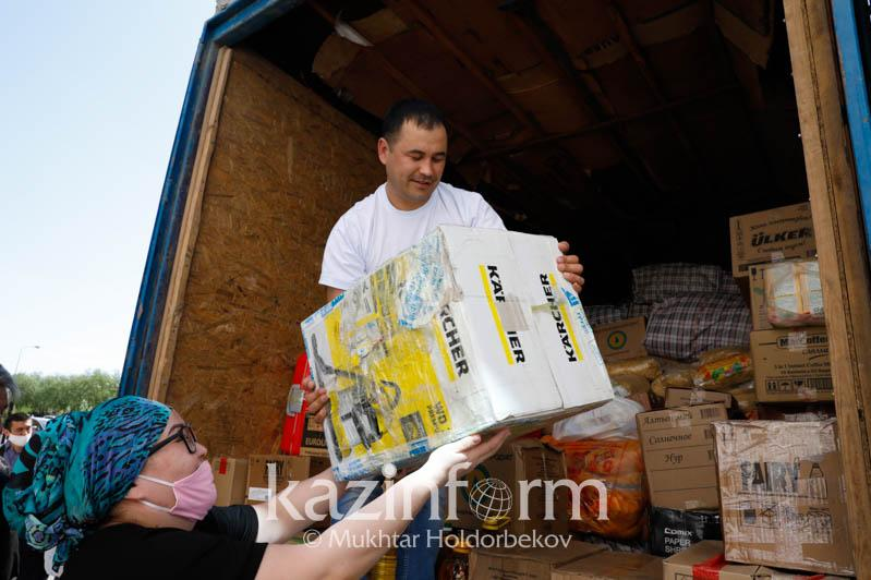 Маңғыстау облысы Мақтаарал ауданына 77,5 тонна гуманитарлық көмек жіберді