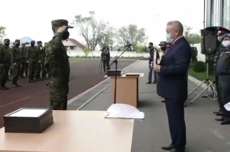 Алматы облысында 100-ге жуық әскери блокпостағы қызметі үшін марапатталды