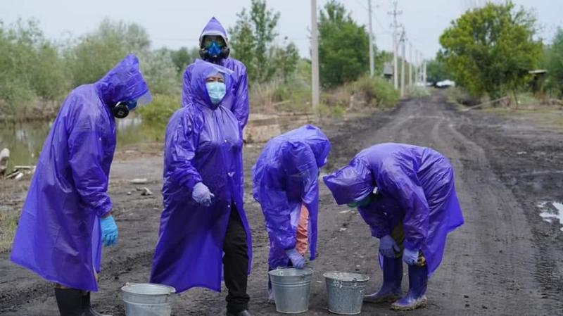Тасқын судан тазаланған ауылдарды дезинфекциялау жұмыстары басталды