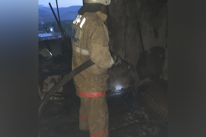 90 evacuated from residential complex amid fire in E Kazakhstan