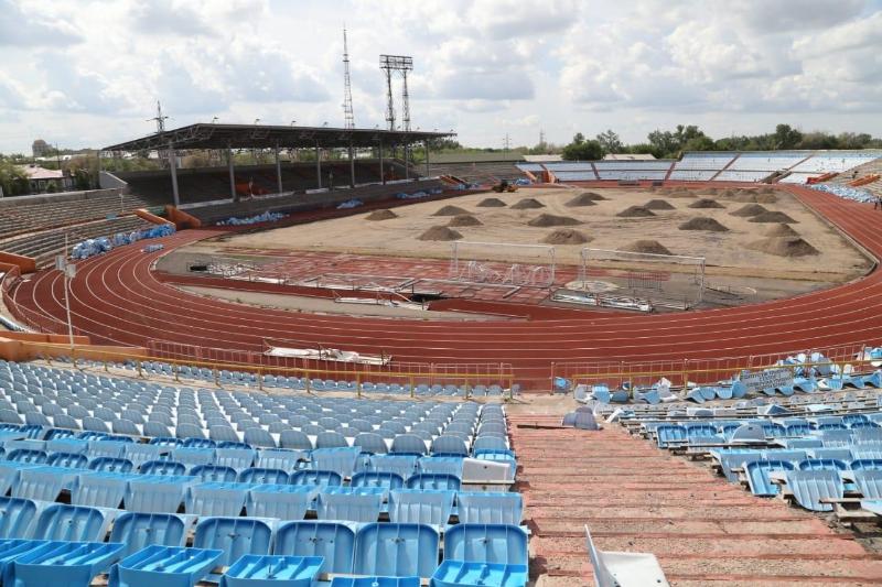 Қарағандыдағы «Шахтер» стадионының жөндеу жұмыстары 1 тамызға дейін аяқталады