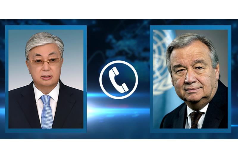ҚР Президенти БМТ Бош котиби билан телефон орқали суҳбатлашди