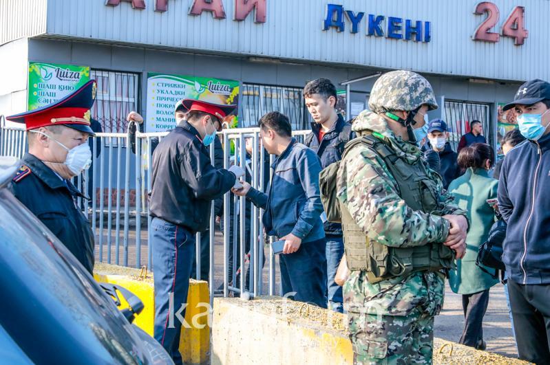 Алматыда 25 блокпостта ахуал тұрақты – полиция