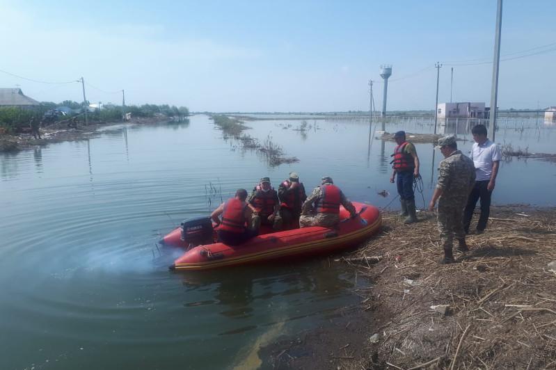 Карагандинские спасатели завершили работы в селе Фирдоуси Мактааральского района