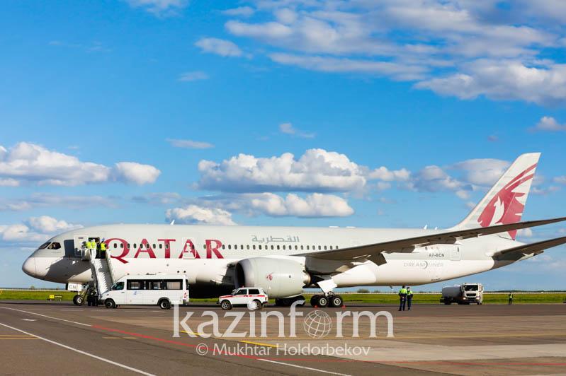 8.5吨卡塔尔政府援哈医疗物资运抵努尔苏丹市