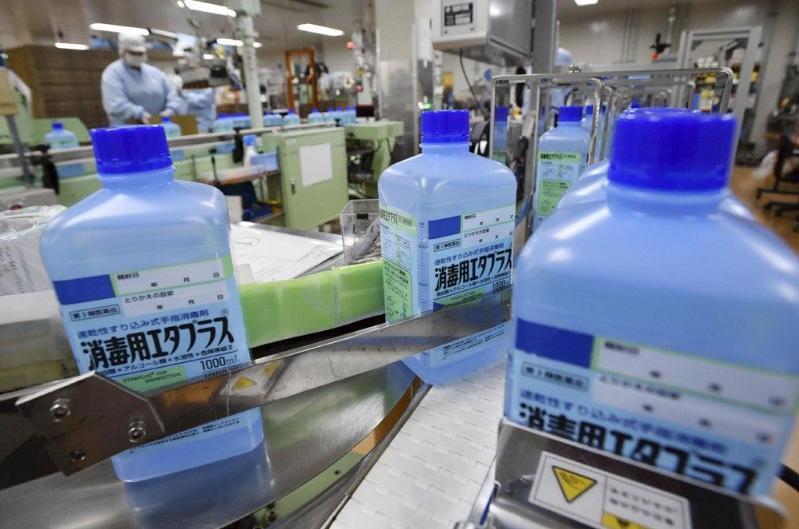 日本政府26日起禁止倒卖消毒液