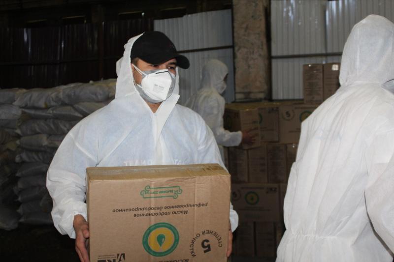 1700 нуждающихся семей получили продукты в Алматы