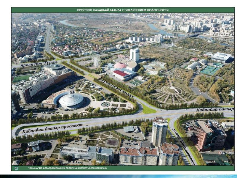 В Нур-Султане в этом году начнут реконструкцию проспекта Кабанбай батыра