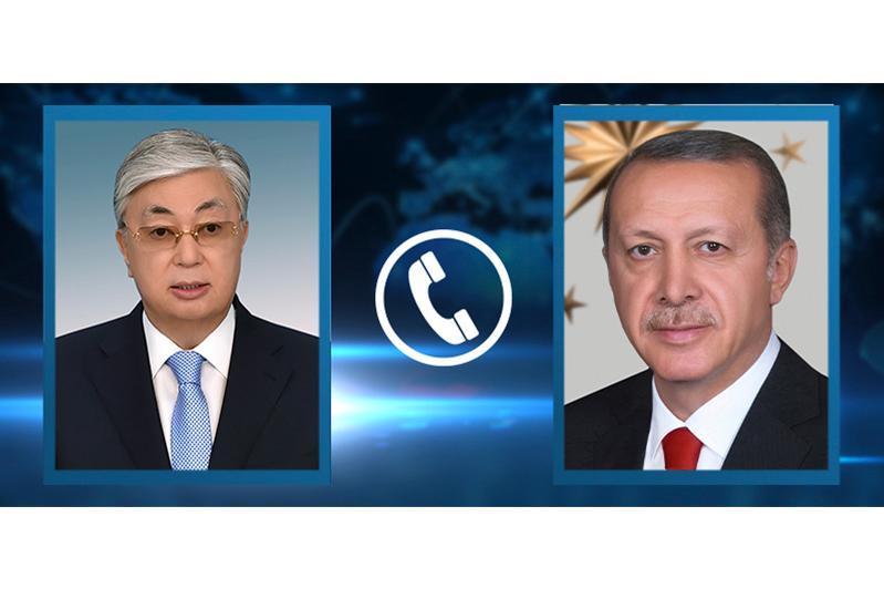 Касым-Жомарт Токаев поговорил по телефону с Реджепом Тайипом Эрдоганом