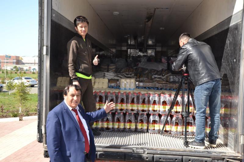 Гуманитарный груз отправили из Западного Казахстана в Мактааральский район