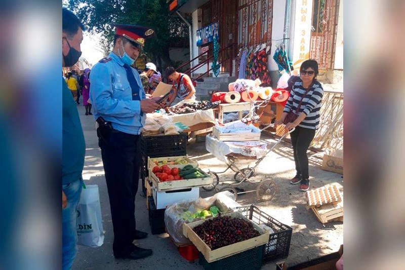Участники стихийной торговли оштрафованы в Таразе