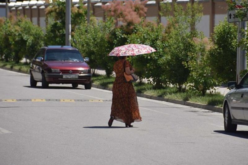 Ózbekstanda aptap ystyq rekordtyq kórsetkishke jetti