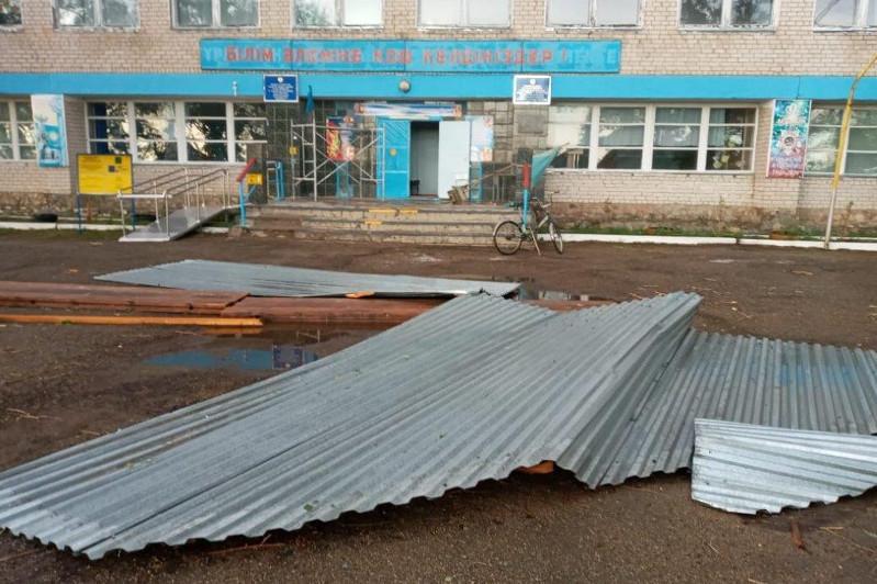 Сильный ветер сорвал кровлю зданий в ВКО