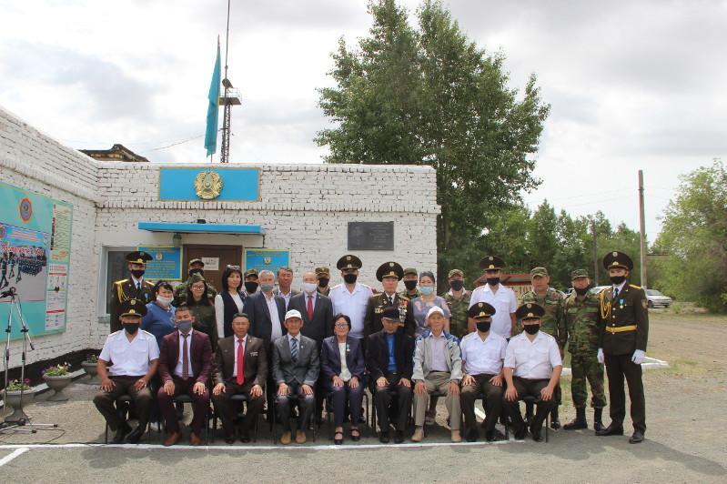 В Павлодарской области установили мемориальную доску Герою Советского Союза Ивану Суптелю