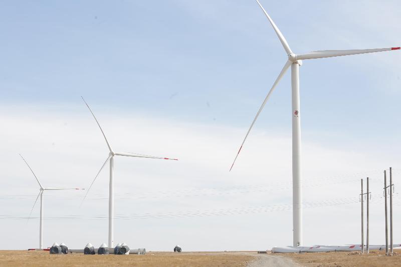 Жамбыл облысында 22 гектар аумақта жел электрстанциясы салынуда