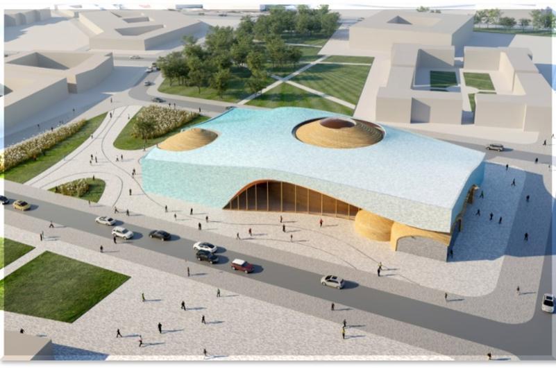 В Туркестане полным ходом идёт строительство культурного центра «Ұлы дала елі»