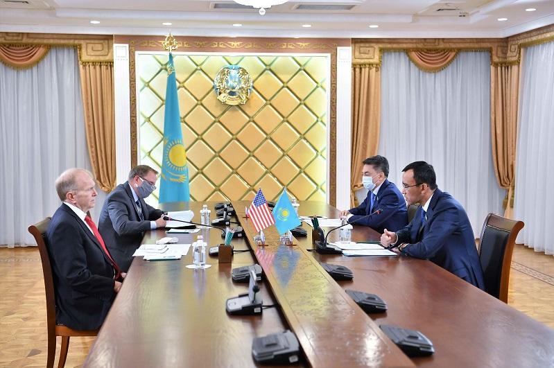 Kazakh Senate Speaker, U.S. Ambassador hold talks