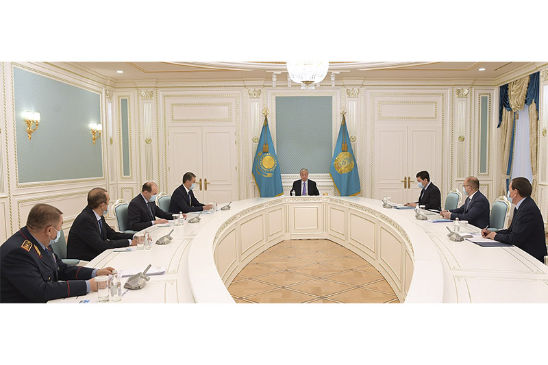 President Kassym-Jomart Tokayev held a meeting with the leadership of law enforcement agencies