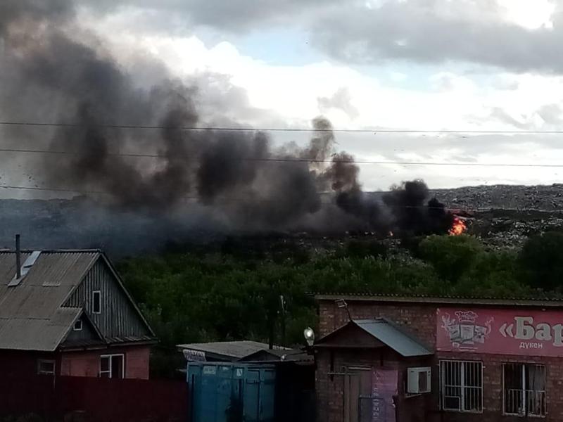 Пожар ликвидировали на свалке в Усть-Каменогорске