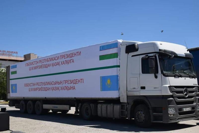 Túrkistanǵa Ózbekstannan gýmanıtarlyq kómek keldi