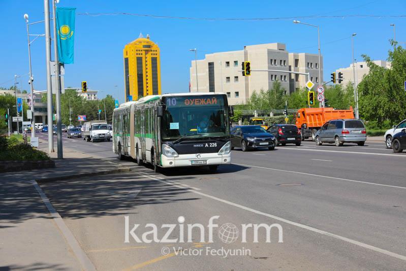 Астанада дезинфекциялауға байланысты автобус бағыттары өзгерді