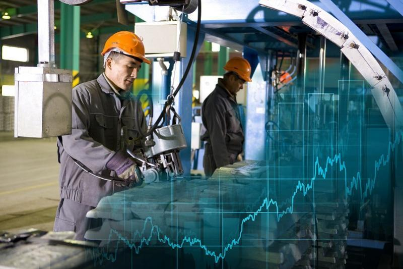 Industrial production rose by 4.8% over five months
