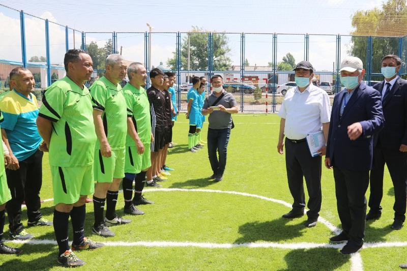 Новые спортивные площадки открываются в селах Жамбылской области