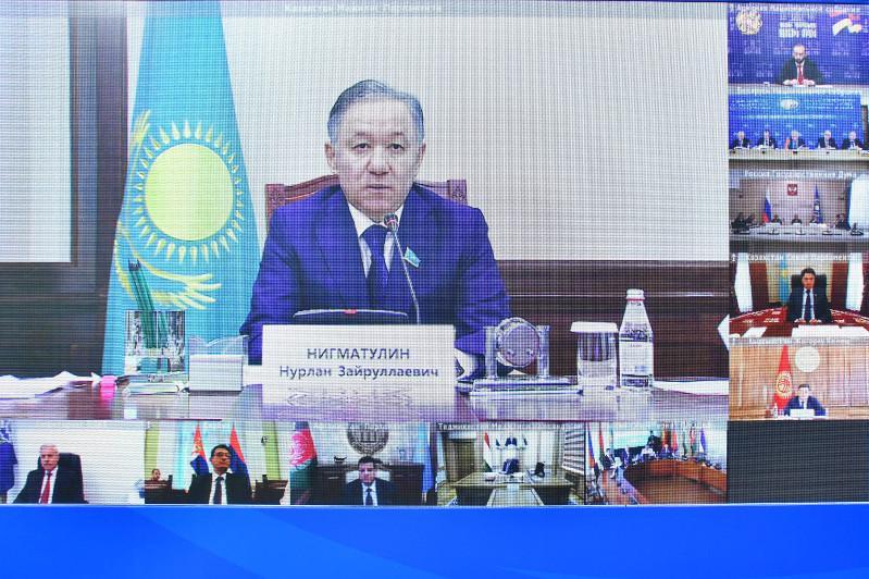 Majilis Speaker attends CSTO PA session