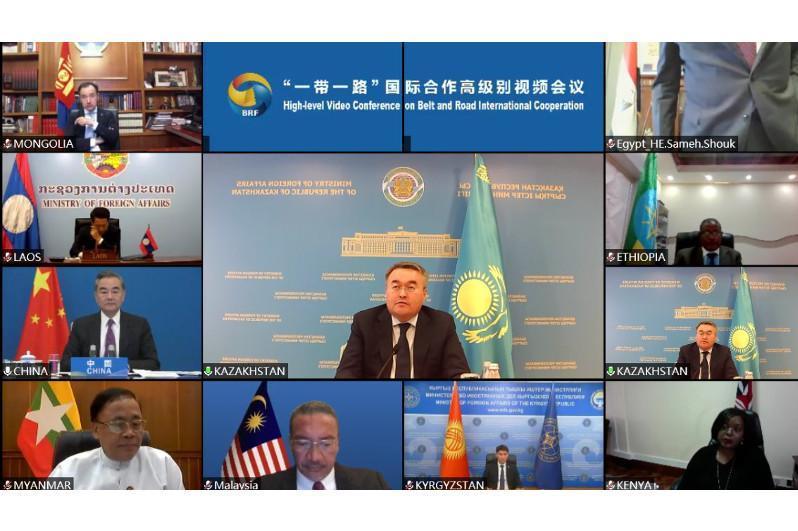 哈外长出席一带一路国际合作高级别视频会议并发表讲话