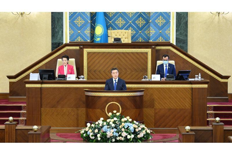 政府总理在议会上下联席会议上做工作汇报