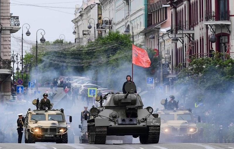 俄首都莫斯科今日举办胜利大阅兵