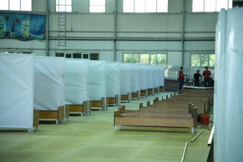 奇姆肯特市已开设4处方舱医院 用于分流普通病患