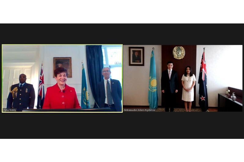 Посол Казахстана вручил онлайн верительные грамоты главе Новой Зеландии