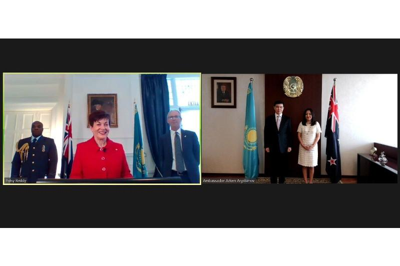 Kazakh Ambassador presents credentials to New Zealand Governor-General online