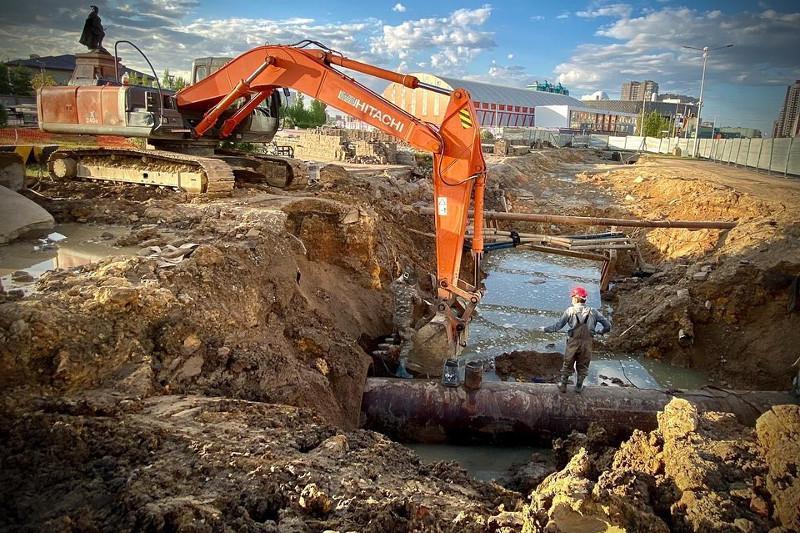 Строительство ливневых канализаций и коллекторов ведётся в столице