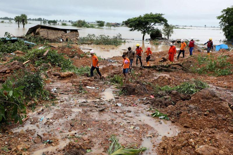 Death toll rises to 96 in monsoon landslide in Myanmar's state