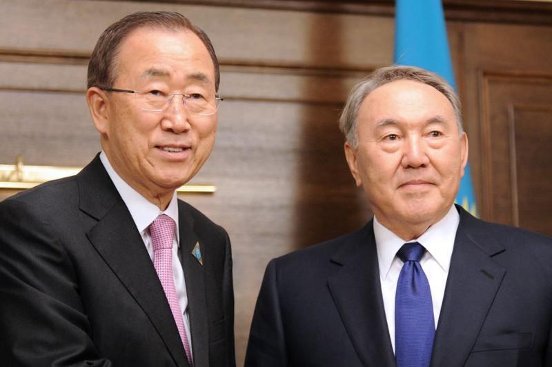 Ban Ki-moon congratulates Nursultan Nazarbayev on upcoming birthday