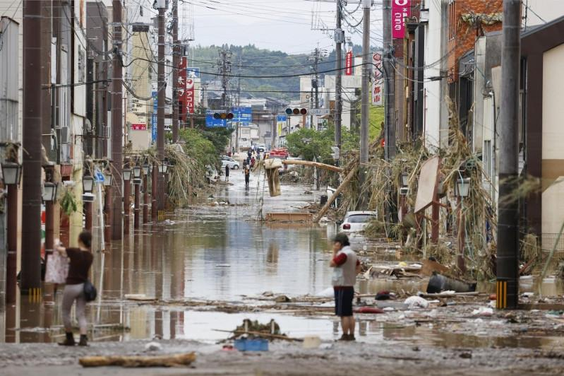 7 dead in flood-ravaged southwest Japan as rescue operations continue
